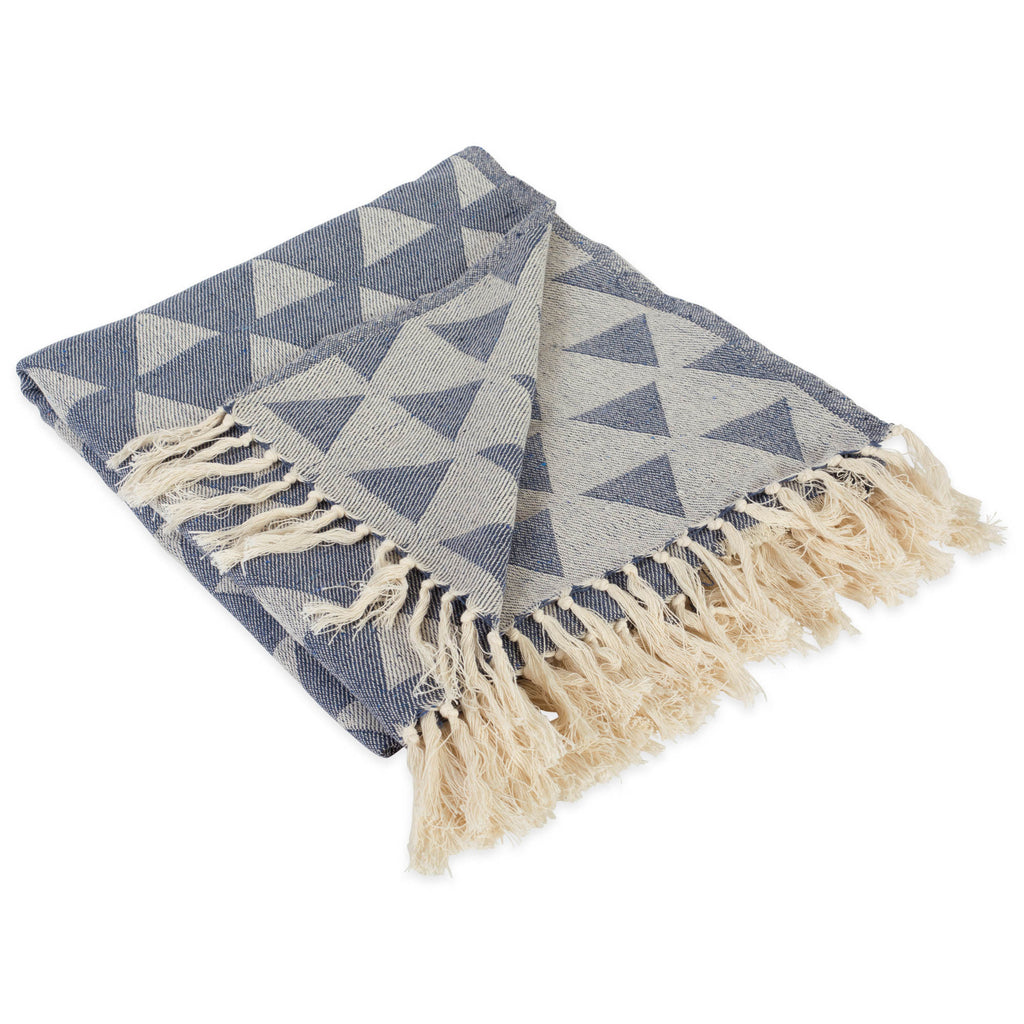 Triangle Throw French Blue