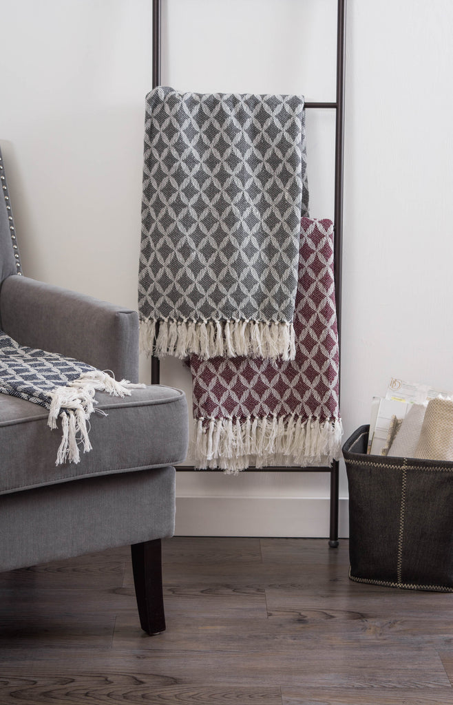 DII Lattice Throw Mineral Gray