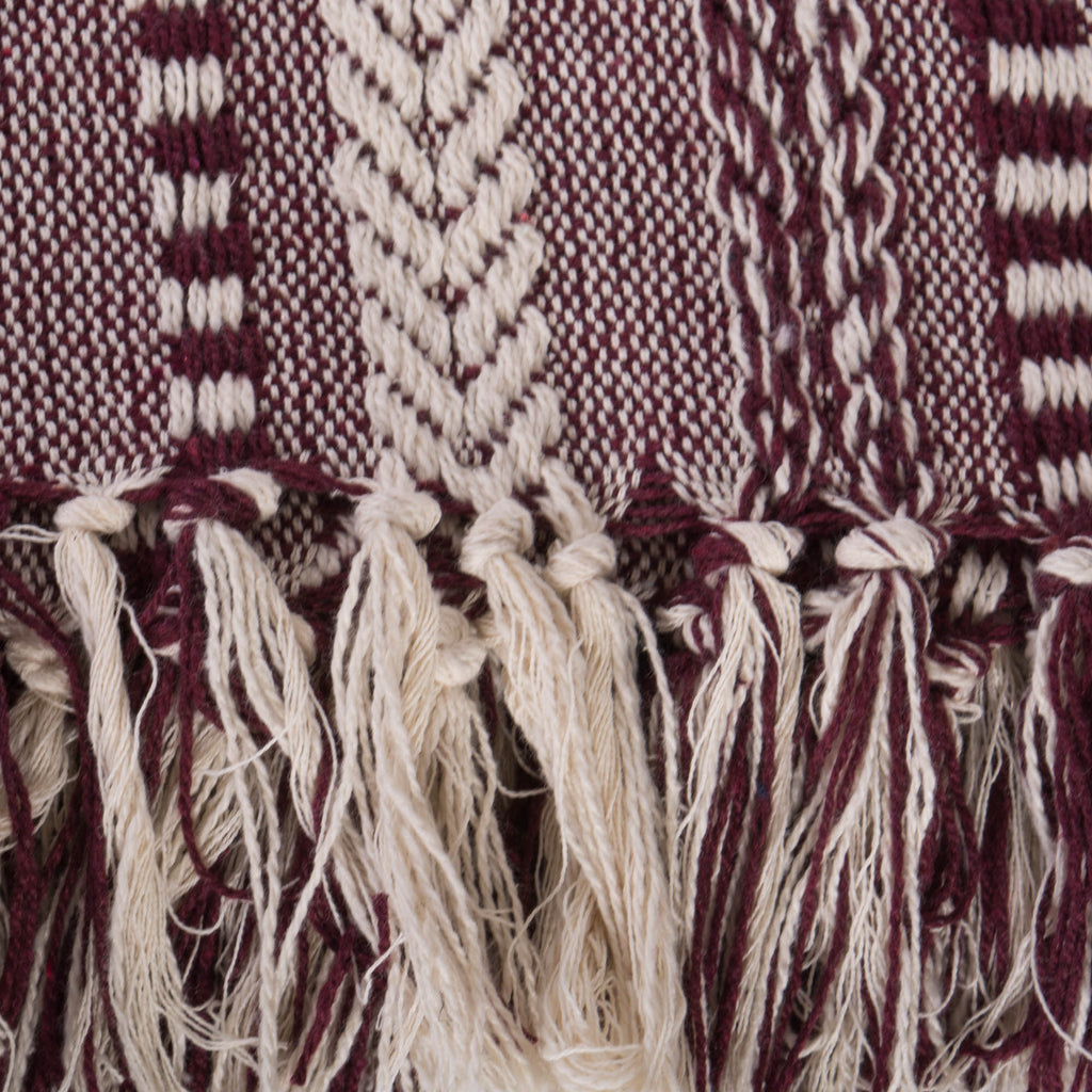 DII Blackberry Braided Stripe Throw