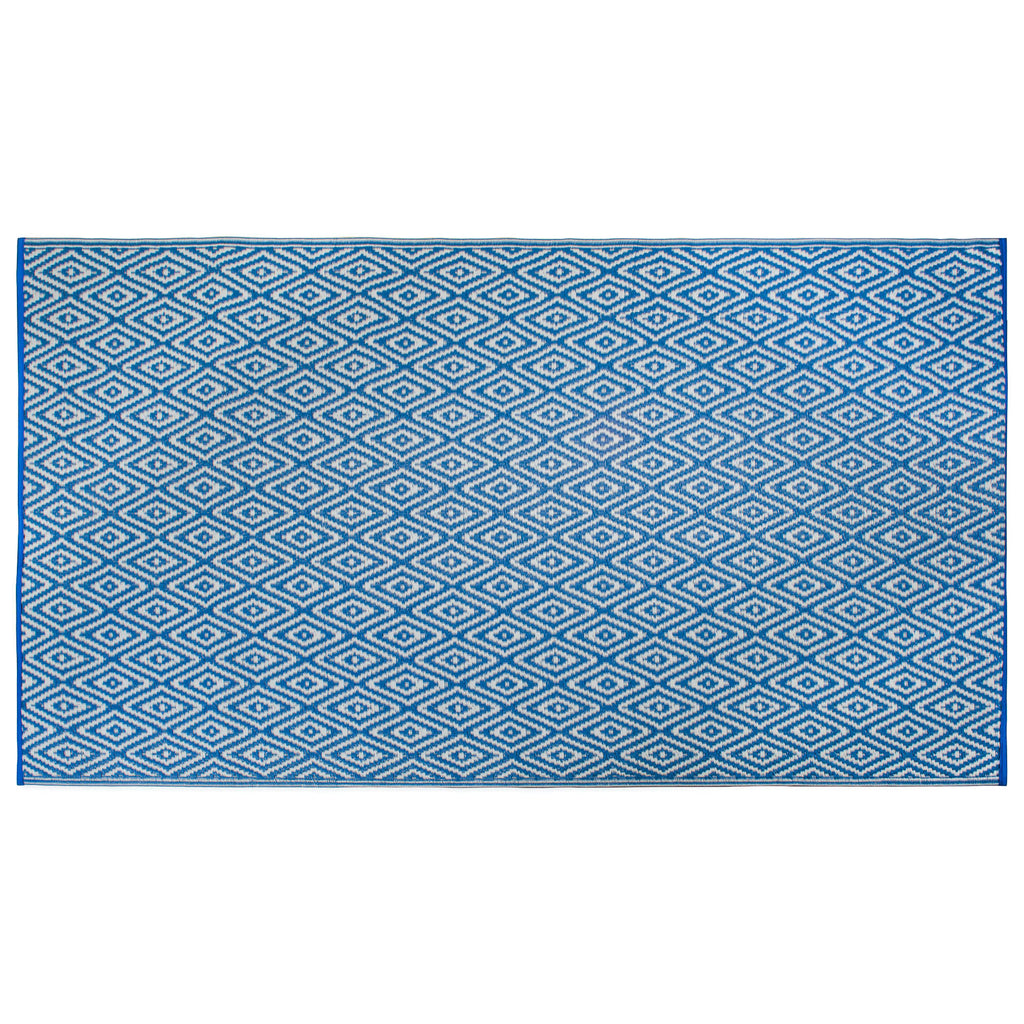 Blue Diamond Outdoor Rug 4x6 Ft