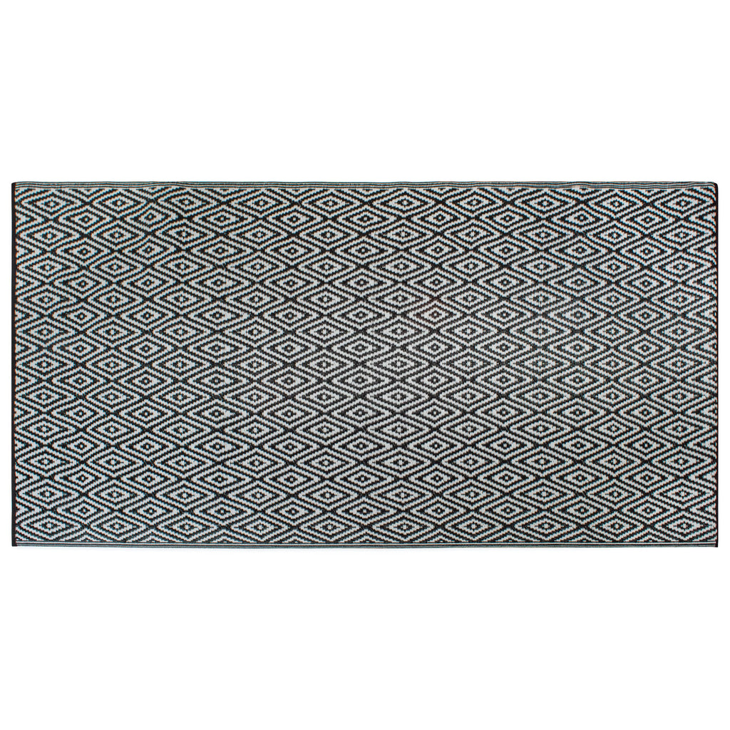 Black Diamond Outdoor Rug 4x6 Ft