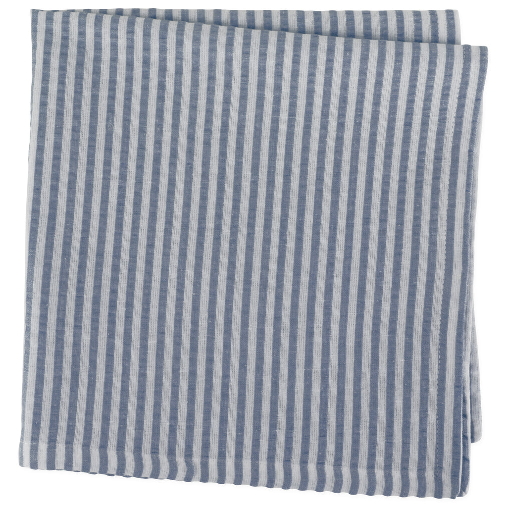 DII French Blue Seersucker Napkin (Set of 6)