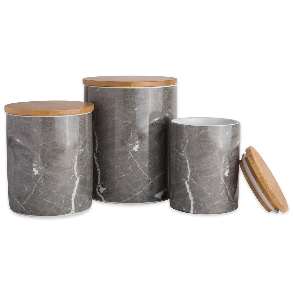 Black Marble Ceramic Canister Set/3