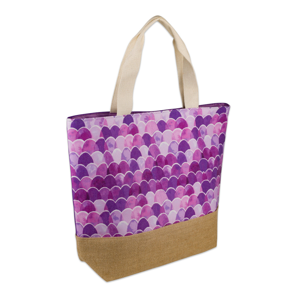 Purple Mermaid Jute Bag