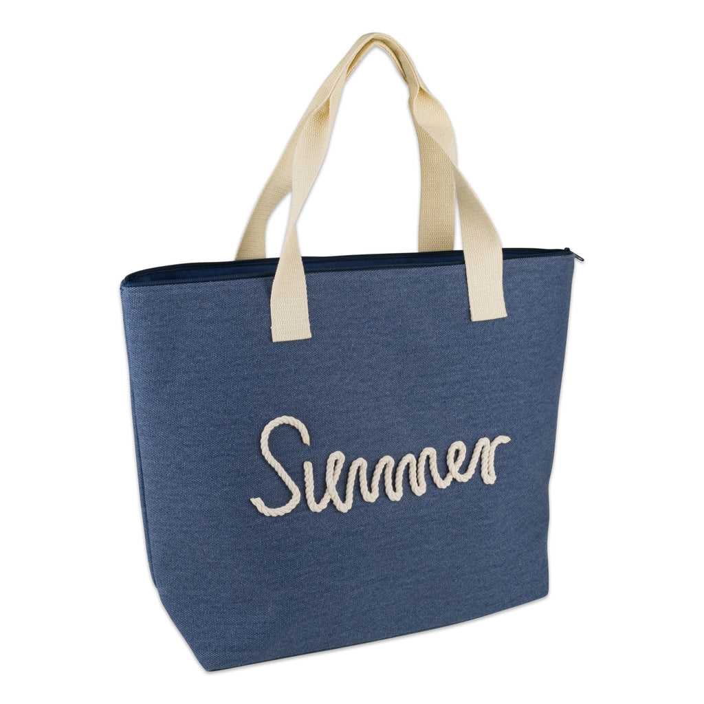 Navy Knotty Summer Beach Bag