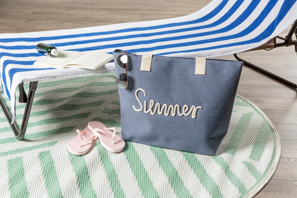 DII Navy Knotty Summer Beach Bag