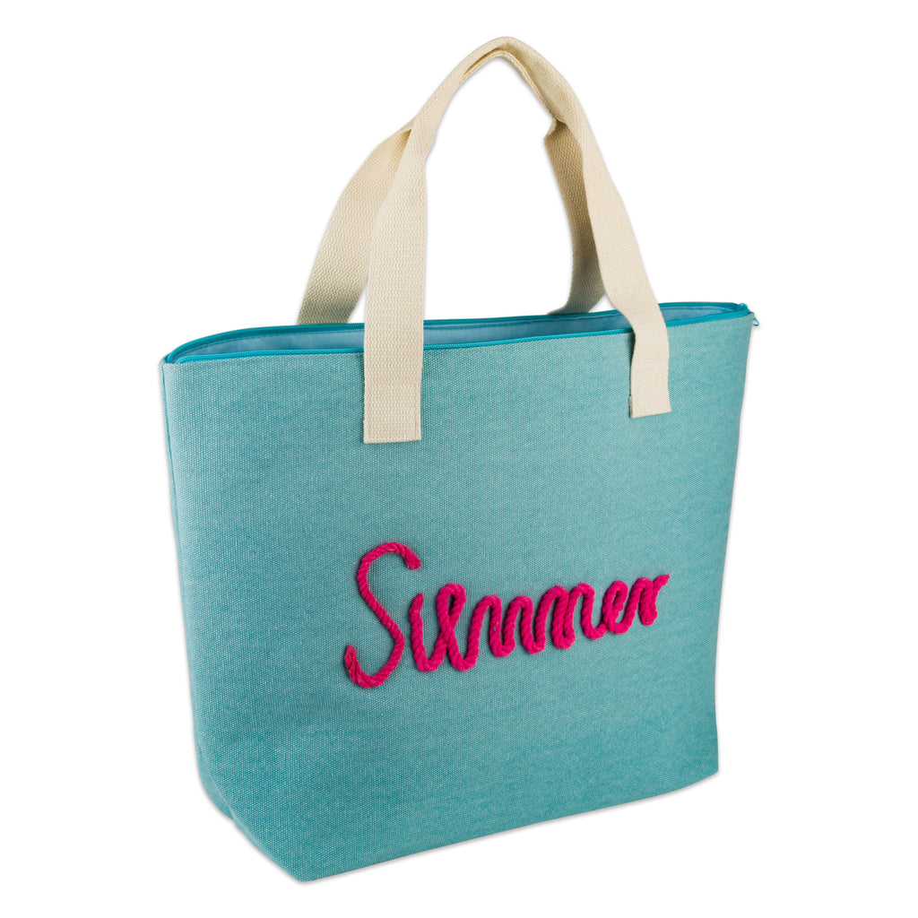 Blue Knotty Summer Beach Bag