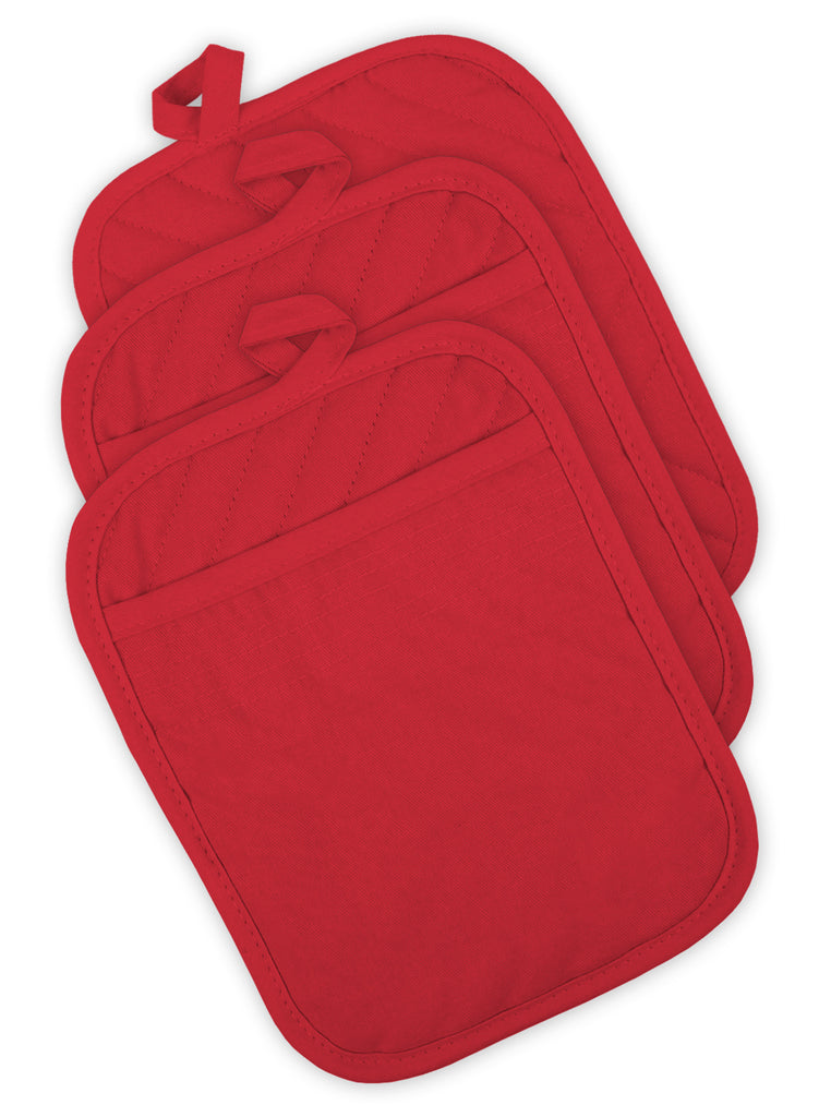 Red Quilted Potholder Set/3