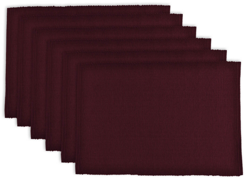 Blackberry Ribbed Placemat Set/6