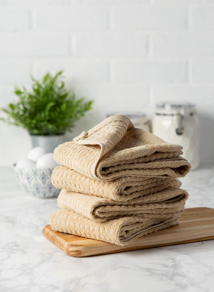 DII Solid Pebble Waffle Terry Dishtowel (Set of 4)
