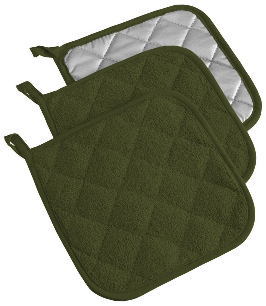Sage Terry Potholder Set/3