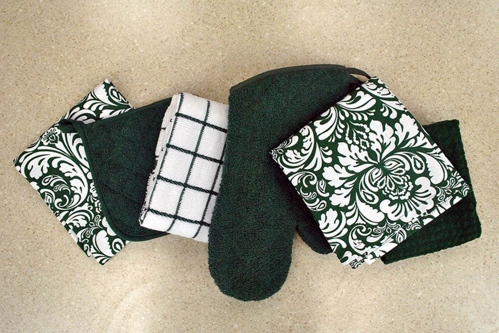 DII Dark Green Terry Oven Mitt (Set of 2)