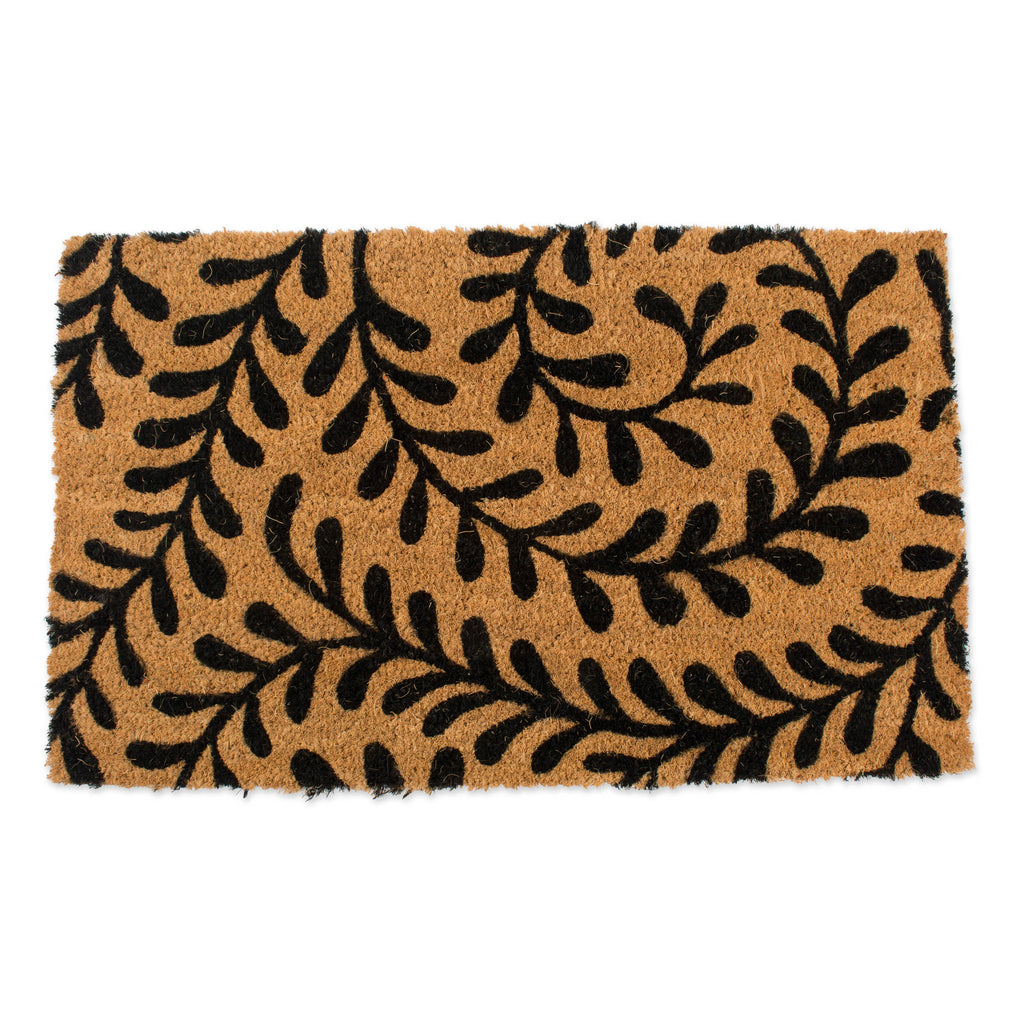J&M Black Ferns Coir Doormat