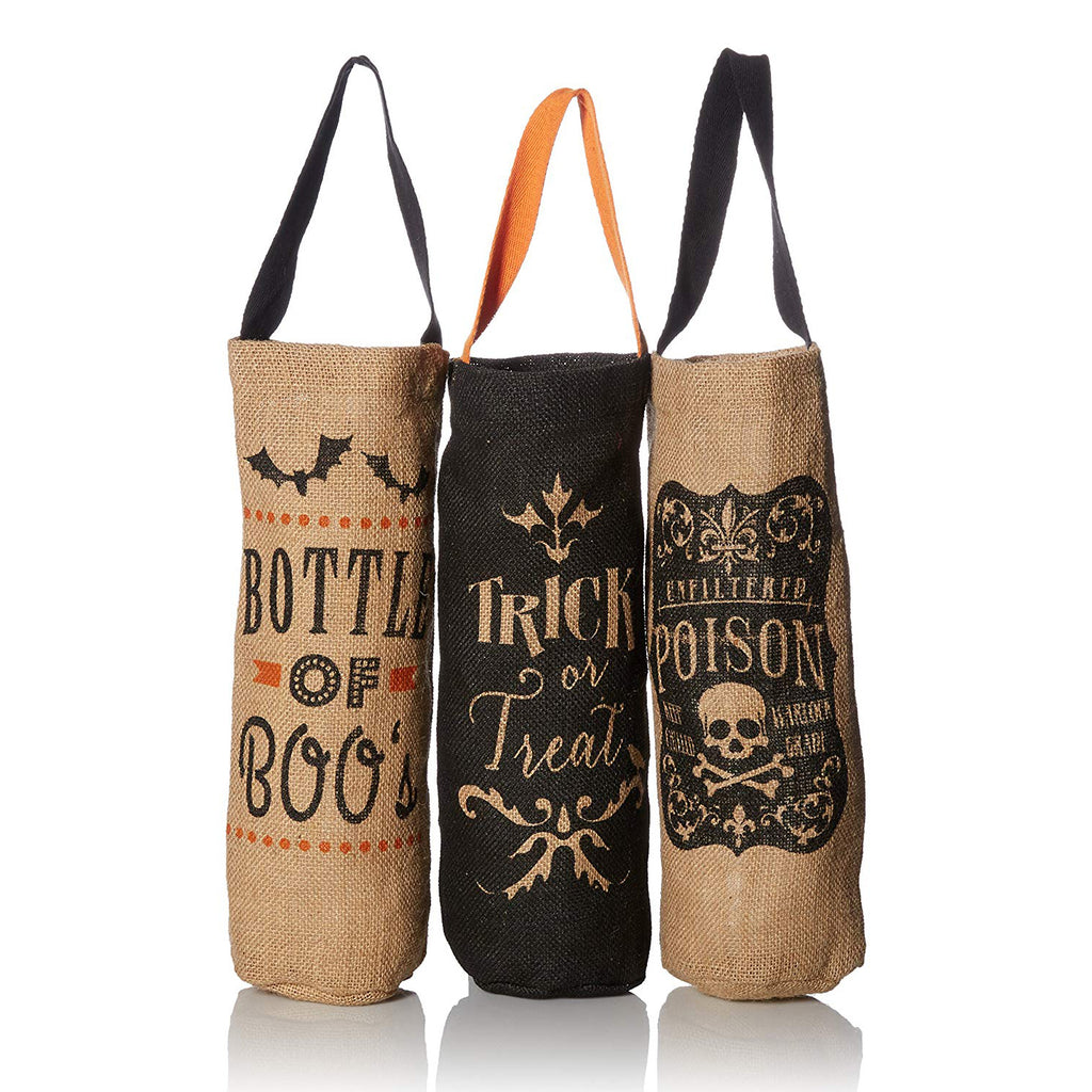 DII Halloween Bottle Totes (Set of 3)