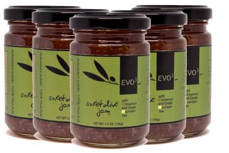evoᶾ sweet olive jam with greek mountain tea and cinnamon case (20 jars)