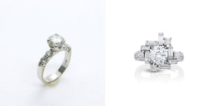 Jewelry Redesign Story #6: Architectural Engagement Ring