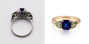 Jewelry Redesign Story #20: Something New: A Revitalized Engagement Ring After 15 Years