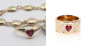 Jewelry Redesign Story #32: Heart-Shaped Ruby Ring Brings the Drama