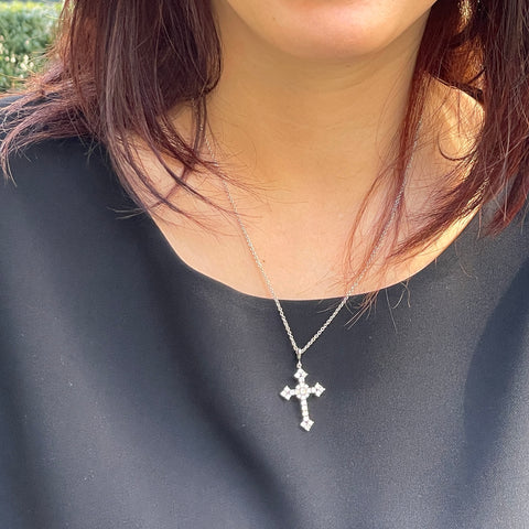 We loved the way that this cross pendant turned out and so did Soojung. This was our very first cross pendant and, although we had a complex design and manufacturing process, we loved being a part of the story of this piece of jewelry. It's our favorite cross pendant we've made yet and we look forward to many more.