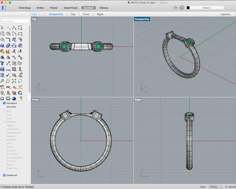 jewelry design, 3d modeling