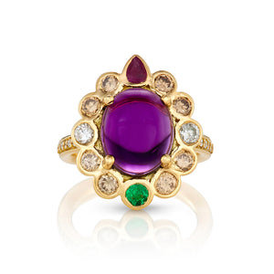 Royal gemstone ring for mom