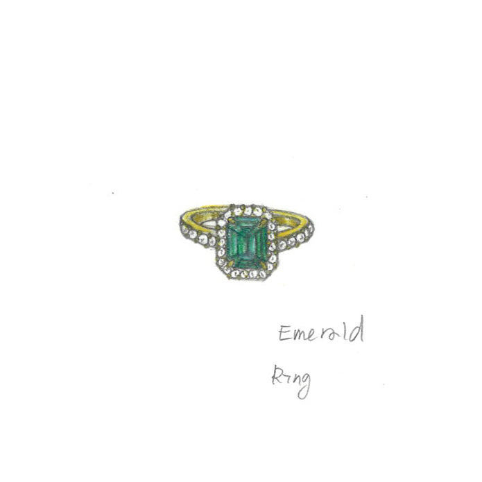 2 ct Emerald Ring