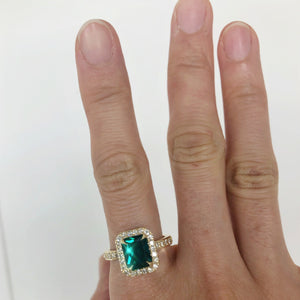 Kandace - 2 ct Emerald Ring - Completed