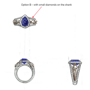 Equestrian Diamond and Sapphire Ring