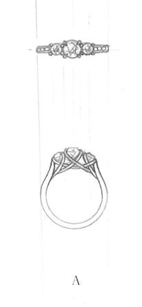 Ashleigh - 3 Diamonds Ring - 70%