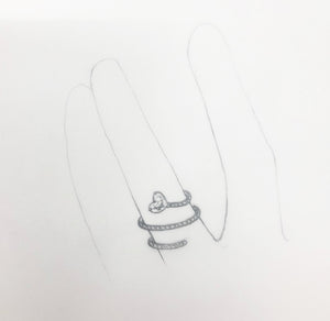 Catherine - Heart Diamond ring - shank redo
