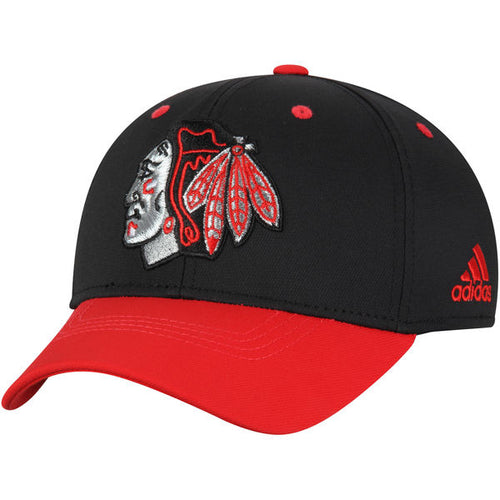 Chicago Blackhawks adidas Centennial Structured Flex Hat - Black 148256355c