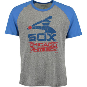 Chicago White Sox Majestic Threads Cooperstown Collection Raglan Tri-Blend  T-Shirt - Heather a72d848a619c