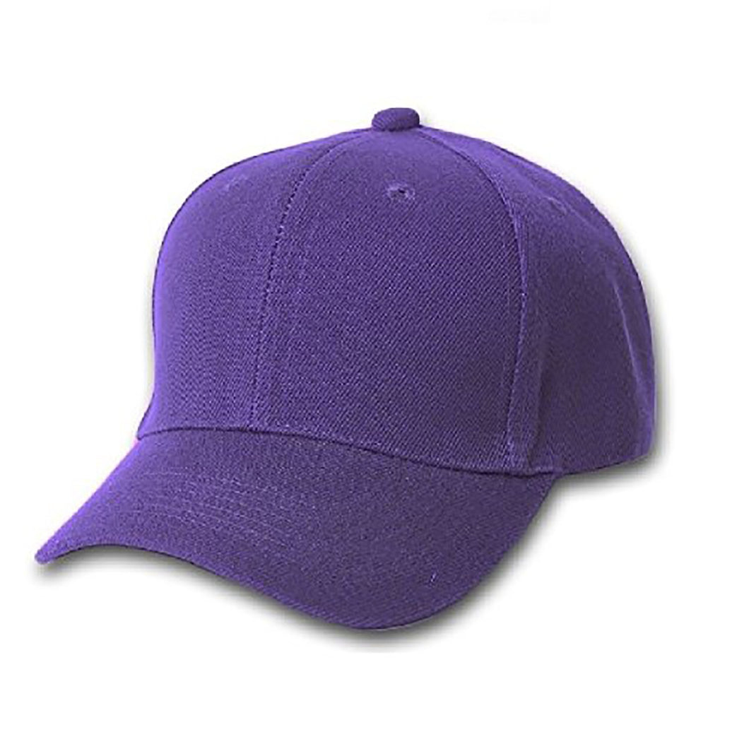 10 Pack of Plain Polyester Unisex Baseball Caps - Adjustable Blank Hat with  Solid Color (Purple) 17bbb96b3797
