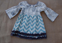 Sado Girls Designer Chevron Peasant Dress