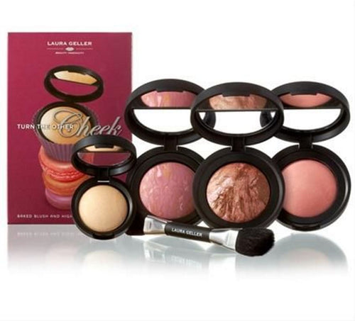 Laura Geller Turn the Other Cheek 5-piece Collection Blushes Highlighter Gift Set