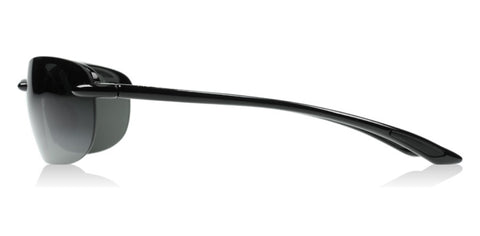 Maui Jim Hanalei 413-02 Gloss Black / Neutral Grey Polarized Sunglasses