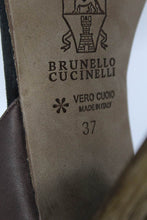 Brunello Cucinelli Brown Leather Sandals SZ 37