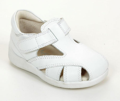 Jumping Jacks Sand Castle Girls White Leather Sandals Size 6 M
