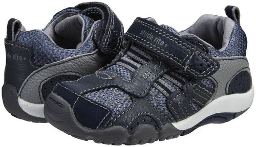 Stride Rite Xavier Infant Boys Blue Leather Shoes