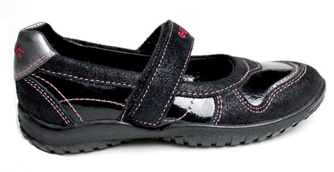 Geox Shadow Girls Black Pink Mary Jane Shoes SZ 10 (Little Kid)