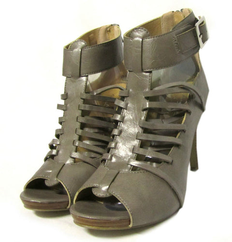Anne Michelle Spicy Women's Gray Taupe T-Strap Sandals