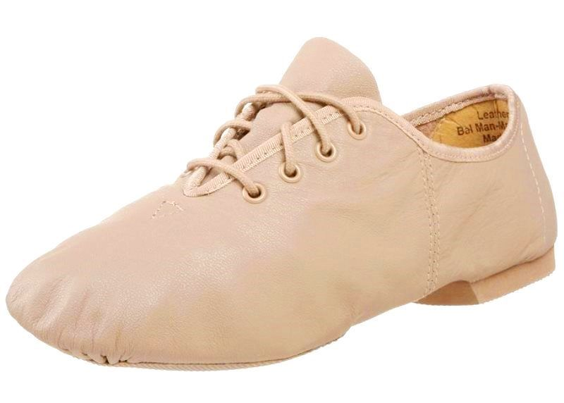 Leo's 7076 Unisex Tan Leather Split Sole Jazz Dance Shoes