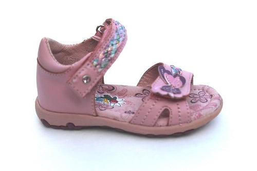 Beeko Girls Pink Multicolor Leather Sandals SZ5.5