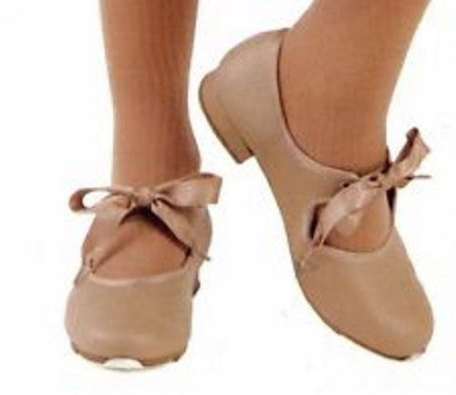 Leo's 806W Girls Tan Tap Dance Shoes Size 2 M (Big Kid)