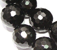 Black Onyx Round Micro Faceted 10mm Beads 16 inch Strand