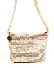 The Sak Ivory Crocheted Shoulder Handbag