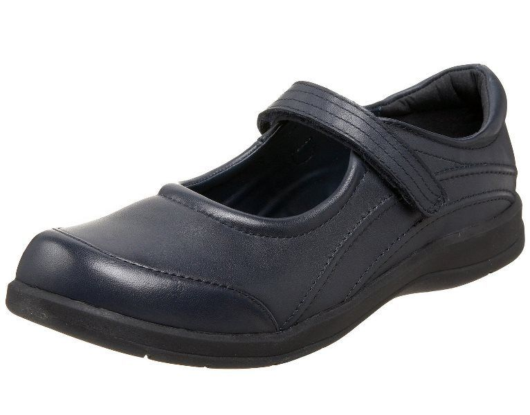 Stride Rite Molly Girls Navy Premium Leather School Shoes