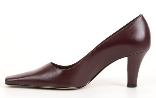 Sergio Zelcer Wade Women's Wine Leather Shoes SZ 6.5