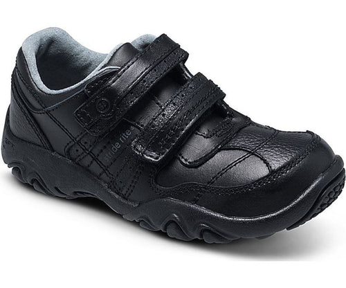 Stride Rite Zeke Boys Black Leather School Dress Shoes Size 10.5 M