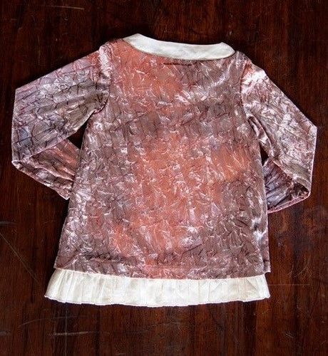 A. Bird Kena Girls Mauve Crushed Velvet Top